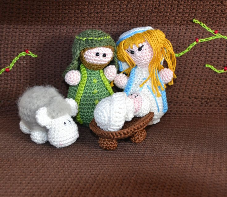 Crochet Patterns Nativity Scene : Free crochet pattern Knitting/crocheting Pinterest