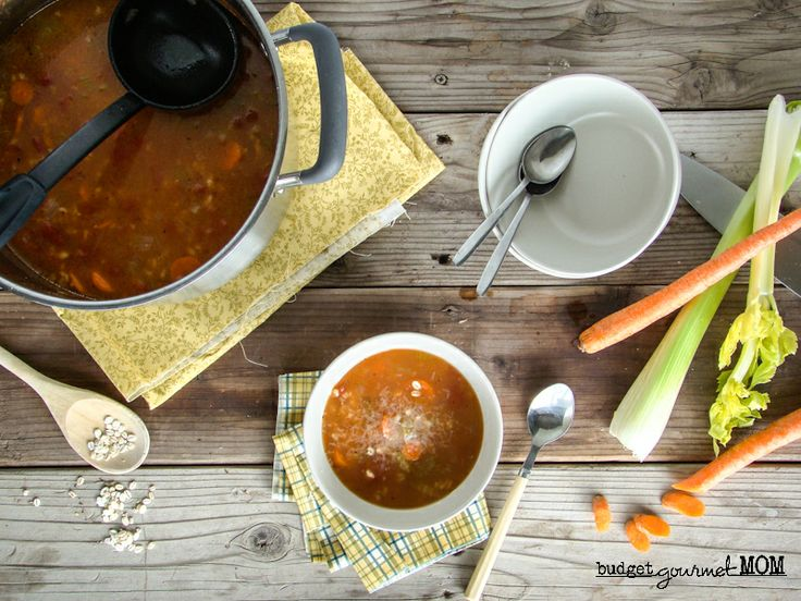Vegetable Barley Soup {Inspired by Panera Bread}