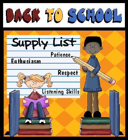 Printable Back to School Supply List