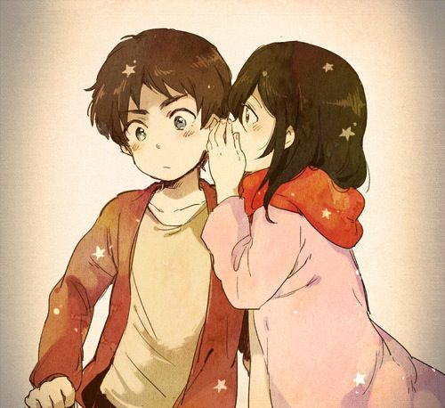 Eren and Mikasa   I shall go down with this ship...   Pinterest