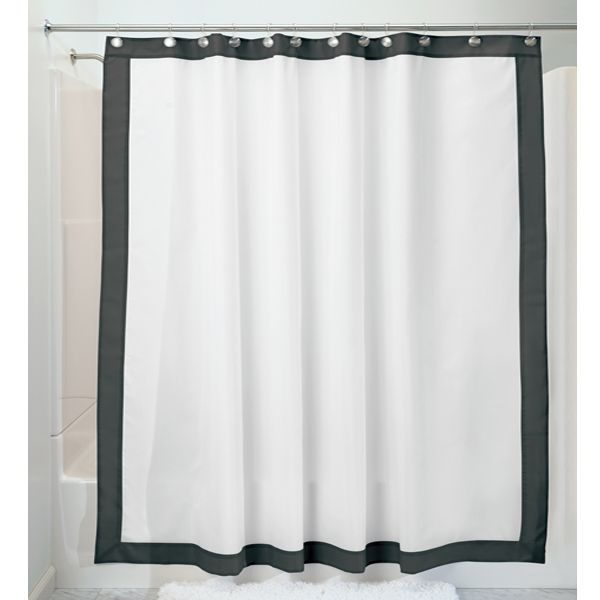Frame 72 X 96 Extra Long Black White Fabric Waterproof Shower Cur