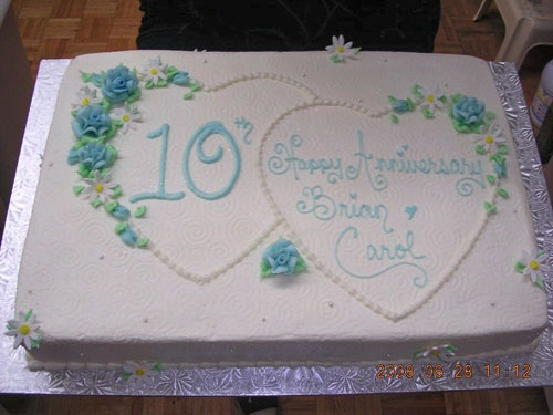 10th anniversary cake cake decorating pinterest for 10th wedding anniversary decoration ideas