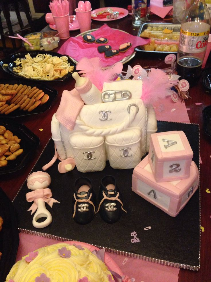 chanel baby shower cake baby pinterest