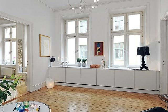 Cabinets under windows storage pinterest for Window under kitchen cabinets