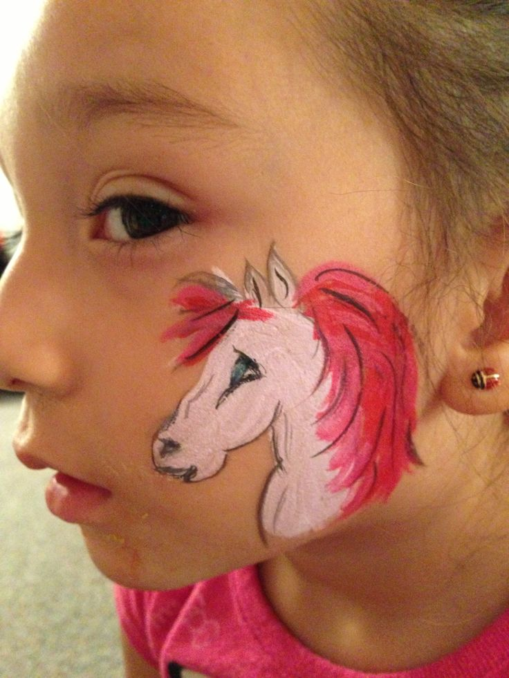 Gallery For gt White Horse Face Painting