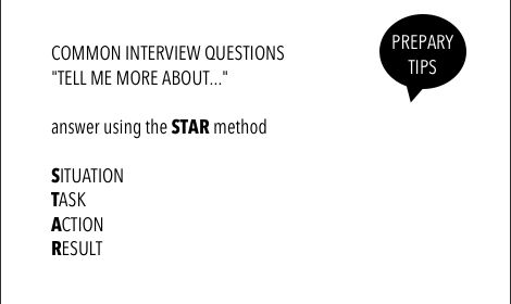 most common star questions for interview