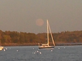 Moonrise over Brunswick Maine