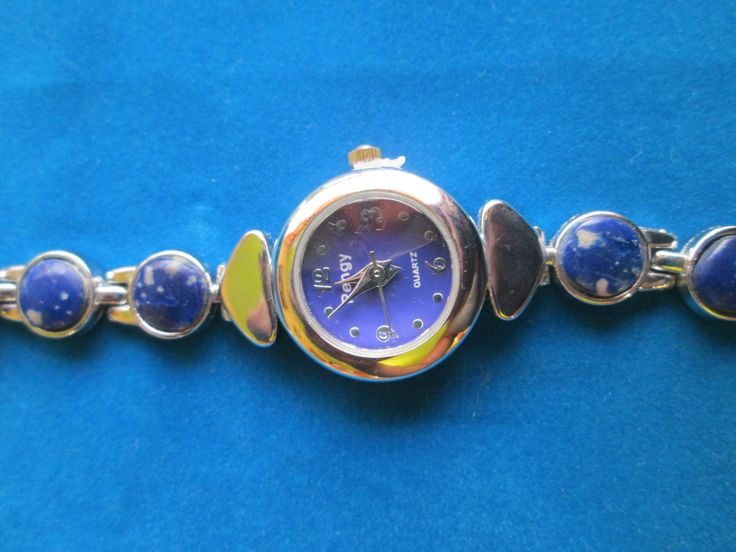 Reloj redondo lapizlazuli | Collares de Piedras Semipreciosas | Pinte
