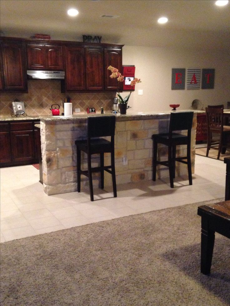 stone kitchen island our house projects pinterest