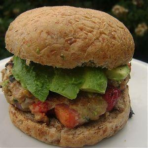 BrokeAss Gourmet – Basil-Feta Turkey Burgers with Avocado