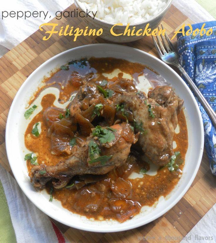 Filipino Chicken Adobo | Eat: Poultry - Chicken (Parts) | Pinterest