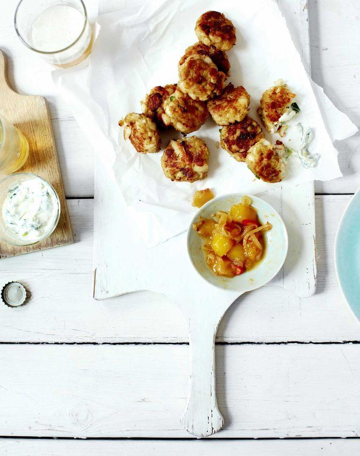 ... Granger recipe: Indian-style fishcakes with mango chutney and raita