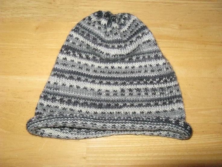 Sock yarn hat. Knitting Pinterest