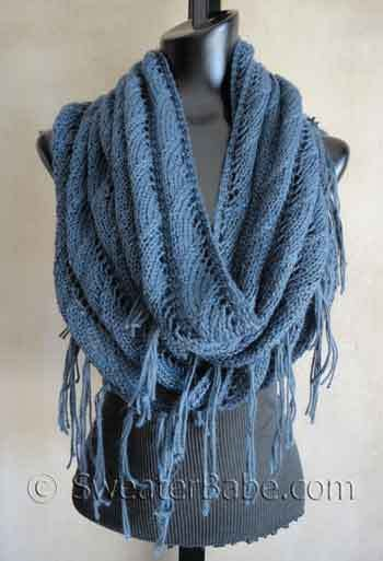 Knitting Pattern For Eternity Scarf : #123 Sophisticated Boho Eternity Scarf PDF Knitting Pattern