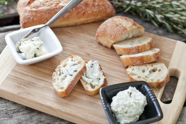Blue Cheese compound butter. {Cascadian Farm}