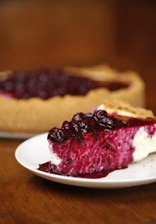 Lemon Blueberry Goat-cheese Cheesecake   Cheese and non cheese ...
