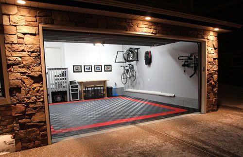 Cool garage flooring home garage shop shed pinterest for Garage cools