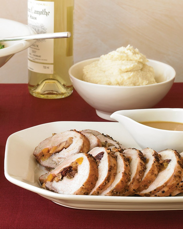Pork Loin with Dried-Fruit and Chestnut Stuffing | Recipe
