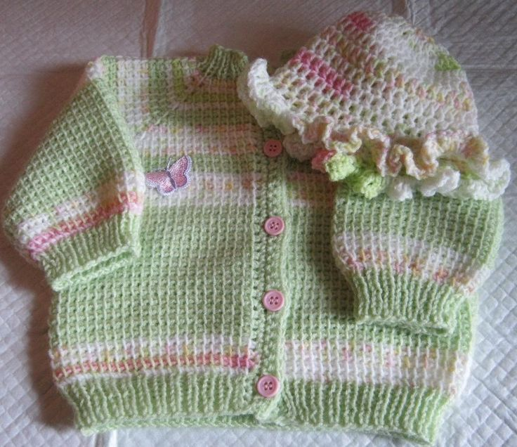 Crochet Baby Hat And Sweater Pattern : Tunisian crochet baby sweater and hat tunisian crochet ...