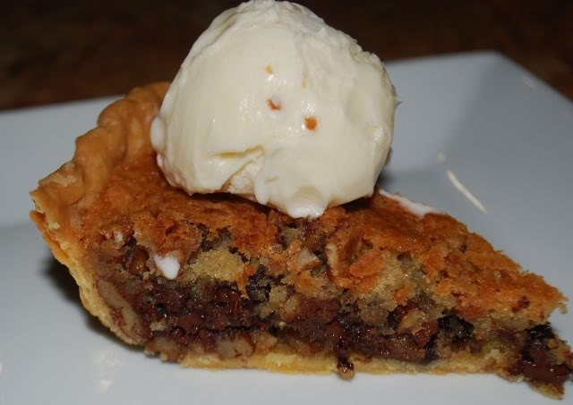 Chocolate Chip Cookie Pie -- this was popular about 20 years ago ...