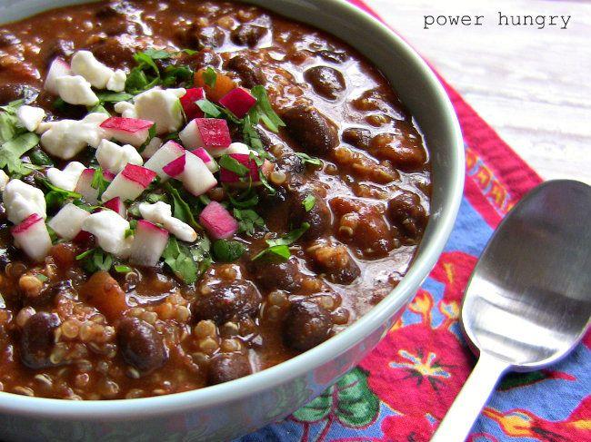 Chipotle Quinoa-Black Bean Chili (4 ingredients) | Recipe
