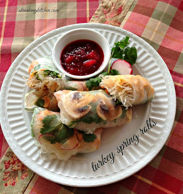 have leftover turkey? Stuff it into these tasty Turkey Spring Rolls ...