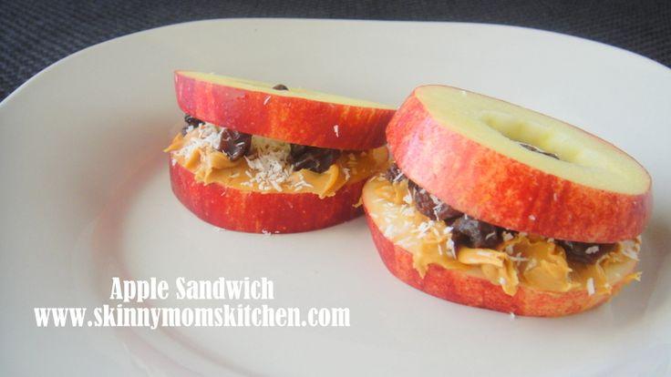 Apple Peanut Butter Sandwich. Super fun after school healthy snack ...