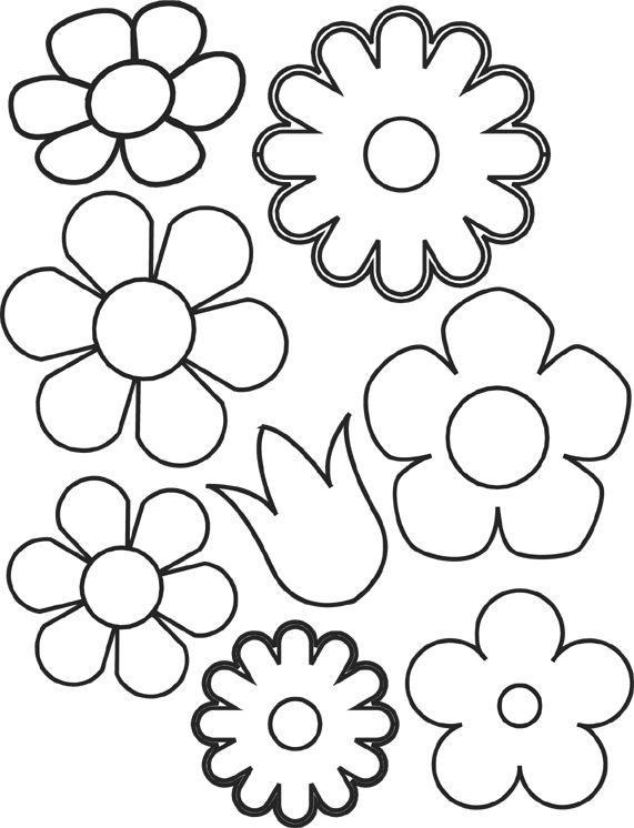Распечатать аппликацию цветы