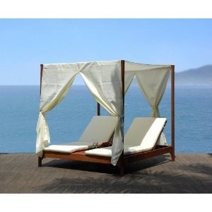 Outdoor day bed with canopy
