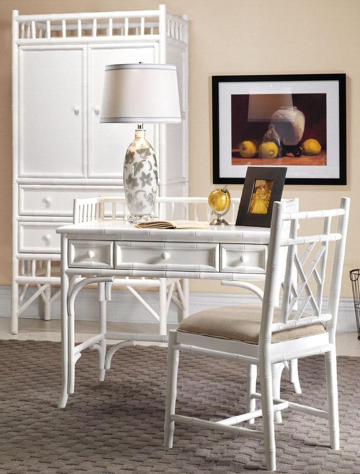 white painted bamboo furniture interiors decor