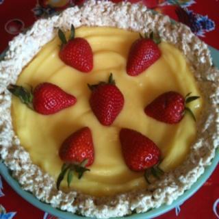 My No bake Marshmallow Crispy Lemon Pie-Pinterest recipe- so easy to ...