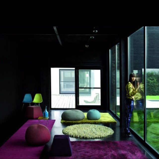 Green blue and purple living room pinterest for Blue green purple room