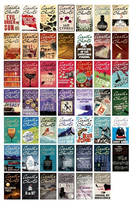 Book Cover Series List ~ Agatha christie all of hers minis printies books