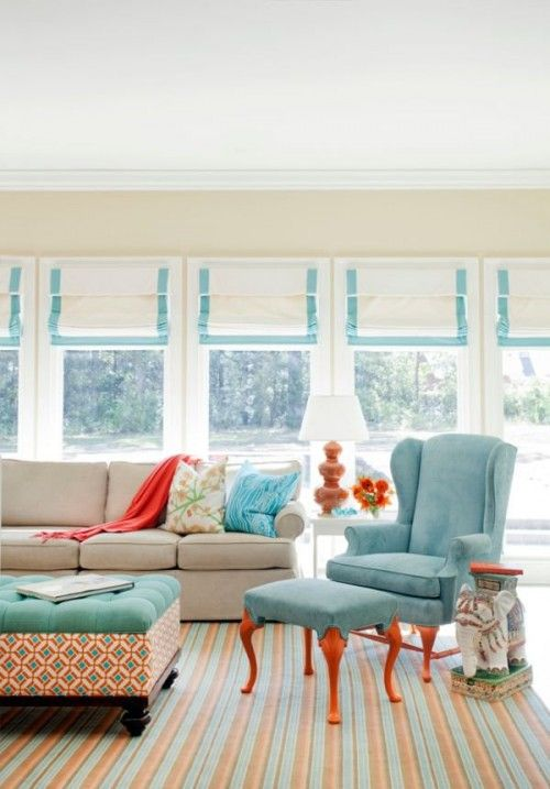 Blue orange living room orange living room pinterest - Blue and orange living room ...