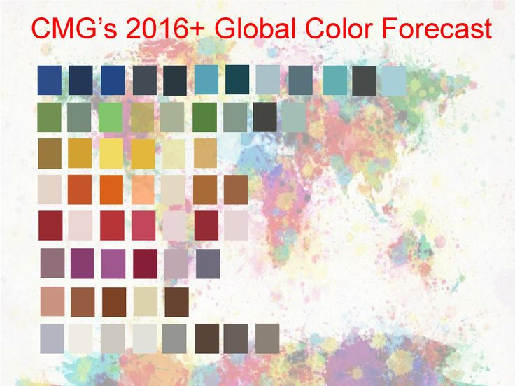 CMG's 2016+ Global Color Forecast will be revealed at the 2014 International Summit.  Registration for the Summit will open shortly.