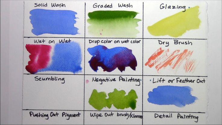 Watercolor painting techniques part 1 watercolor for Different watercolor techniques