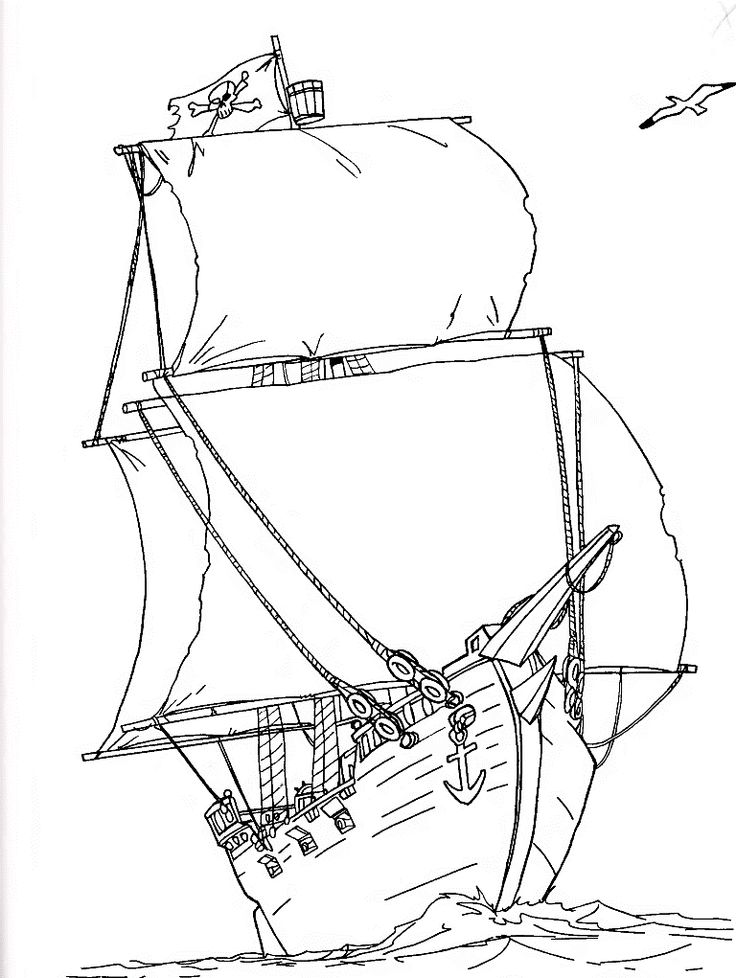 pirate ship coloring pages - photo#31