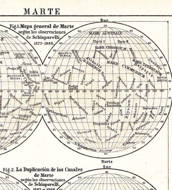 printable map of planet mars - photo #20