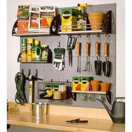 Tool storage garden shed ideas pinterest for Gardening tools storage