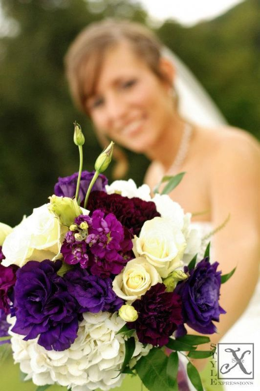 My bridal bouquet! :  wedding bouquet ceremony flowers purple Bouquet