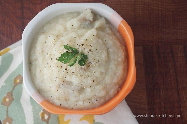 Roasted Garlic Mashed Potatoes/Cauliflower | Slender Kitchen
