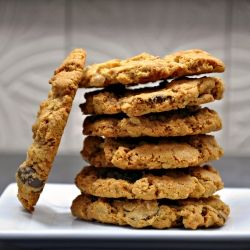 Oatmeal Chocolate Chip Cookies with Toasted Coconut - crunchy and ...