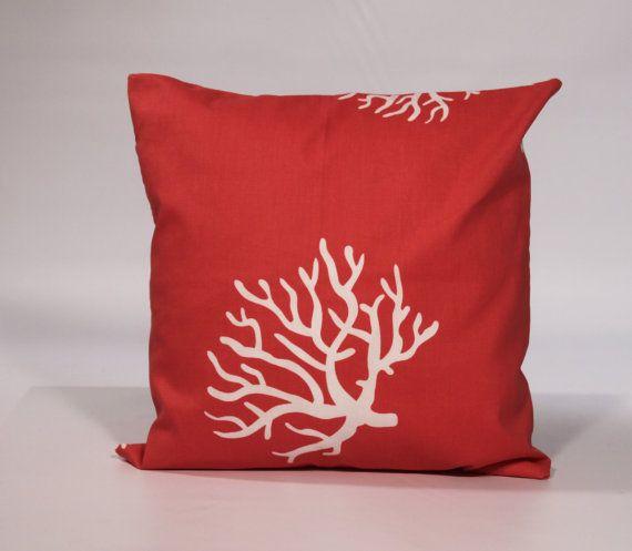 Unique Throw Pillow Covers 18x18 : DECORATIVE PILLOW COVER 18x18 Coral Throw Pillow by thatsmypillow, $19.95