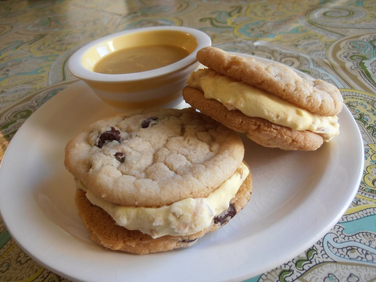 coconut ice cream cookie sandwiches | breezy delights | Pinterest
