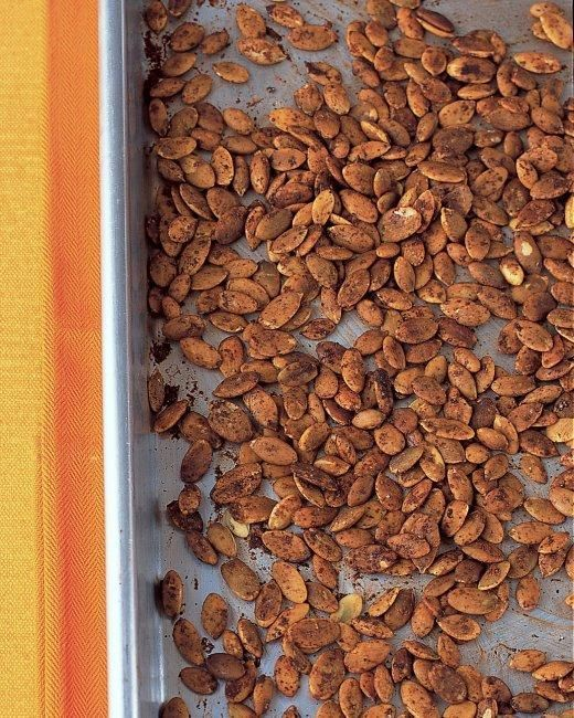 ... throw away those pumpkin guts, make Spicy Chili-Lime Pumpkin Seeds