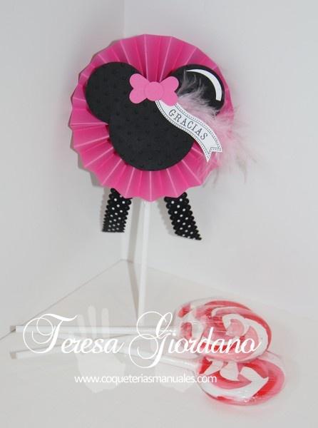 chupetas decoradas de Minnie  www.coqueteriasmanuales.com