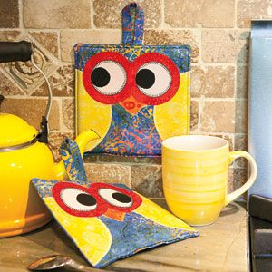 It's a Hootie: FREE Owl Quilt Block Potholder Download