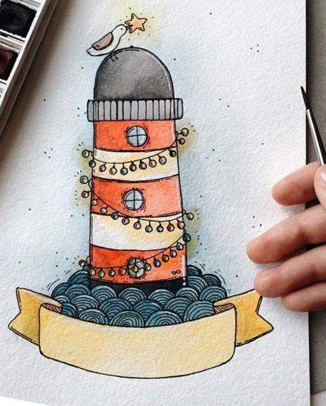 Как рисовать осень в картинках