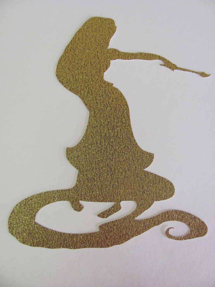 rapunzel silhouette | All Things Disney | Pinterest