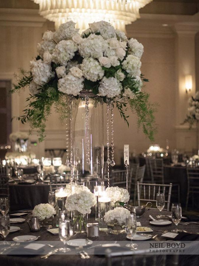 Tall elegant wedding centerpieces
